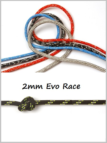 2mm - Evo Race Dyneema (Black)